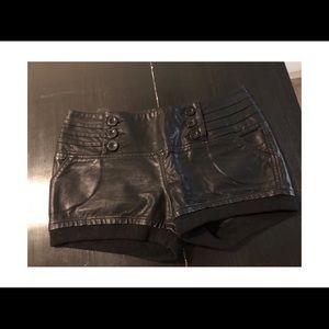 7365f58767e NWOT PU Leather Black Shorts 🖤